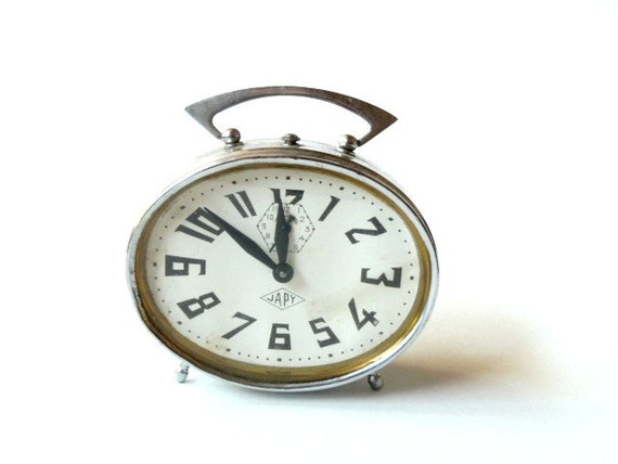 French vintage JAPY Alarm clock .