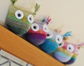 Ombre Owl Crochet Toy - Pick Your Colors - Choose Baby Toy Or Toy For Child