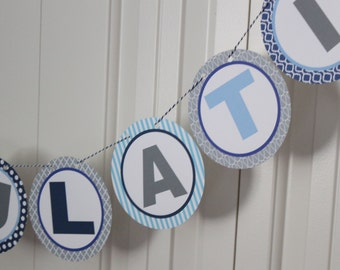 CONGRATULATIONS Party Banner You Pick Colors - Party Packs Available