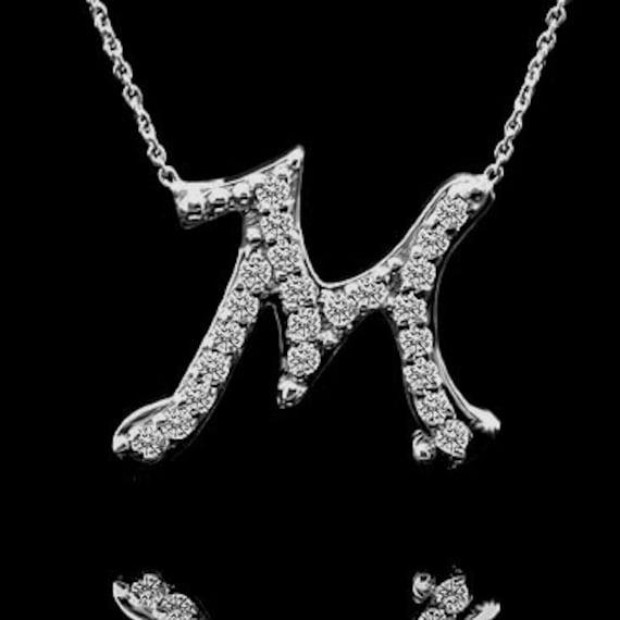 Diamond Letter M Initi...M Letter In Black Diamonds