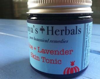 Organic Skin Care: Aloe Lavender Skin Tonic & Mask