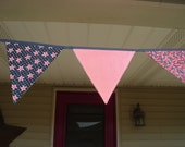 Patriotic Red White and Blue Bunting Flag Banner 4th of July