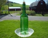 Wine Bottle Birdfeeder Repurposed Recycled