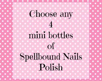 Pick Any 4 Mini Bottles (5ml) Spellbound Nails Nail Polish
