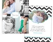 INSTANT DOWNLOAD - Wedding Thank You card - Photoshop Templates - E852