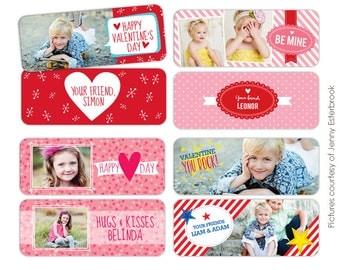 INSTANT DOWNLOAD - Valentine's Rep Mini Cards Templates - Valentine's designs for photographers - E663