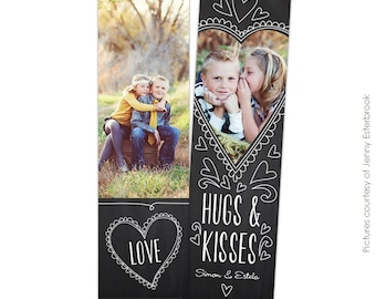 INSTANT DOWNLOAD - Valentine's Bookmark photoshop template - Valentine's designs for photographers - E674