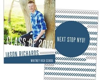 INSTANT DOWNLOAD - Graduation announcement - Photoshop Templates - E786