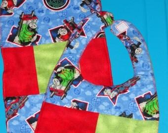 Thomas the Train Baby Bib and Burb Cloth Set