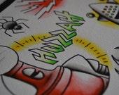 MST3K Tattoo Flash Sheet Print