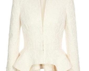 Worn by Kate Middleton 88th birthday Queen Elizabeth II Alexander Mcqueen inspired jacket notch collar