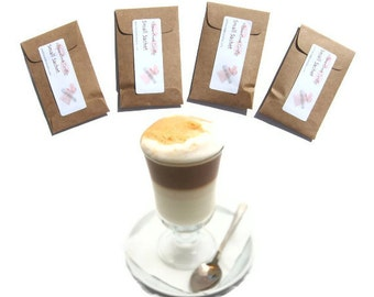 Pumpkin Spice Latte Scented Sachets Small Gift Autumn Pumpkin Spice Favors Party Fall Wedding Rustic Seed Packets Personalized Coffee