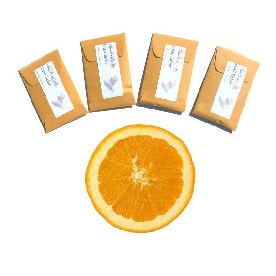 Orange Scented Sachets Mini Drawer Freshener Paper Candle Fragrance Seed Packet Favors Modern Home Decoration Party Wedding All Occasion