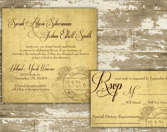 Rustic Wedding Invitation / Rustic Winery Invitation / Winery Invitation /  Rustic Vineyard / Vineyard Wedding