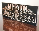 Personalized Family Name Sign, Personalized Anniversary Sign,  Benchmark Custom Signs Maple sb2