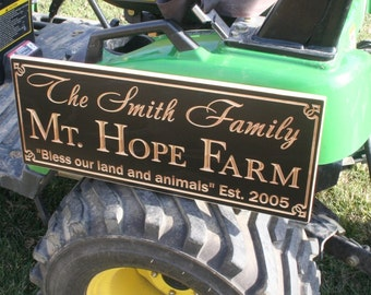 Farmers Market Sign, Farm Sign, Personalized Sign, Engagement Date Sign, Family Ranch Sign, Ranch Sign, Benchmark Custom Signs, Maple OO
