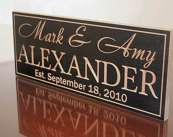 Wedding Date Sign, Mr Mrs Wood Sign, Established Date Sign, Family Date Sign, Carved Wood Sign, Benchmark Custom Signs, Maple XX