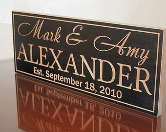 Mr Mrs Wood Sign, Wedding Date Sign, Custom Date Sign, Carved Wood Sign, Established Date Sign, Custom Sign, Benchmark Signs Maple XX
