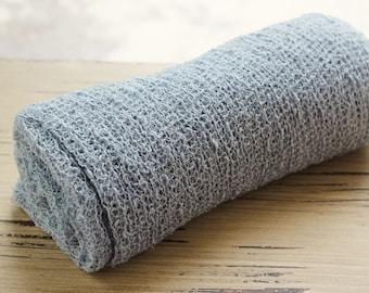Ready To Ship- GREY Stretch Knit Wrap, newborn wrap, photography prop