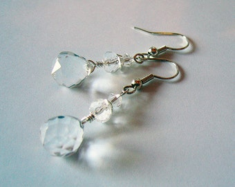 Refractions - Crystal and Silver Dangle Earrings