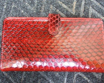 SAKS FIFTH AVENUE Exotic Snakeskin Reptile Wallet c 1980
