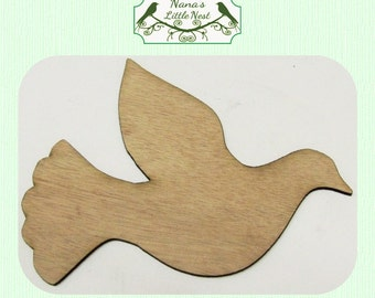 Dove Wood Cut Out - Laser Cut