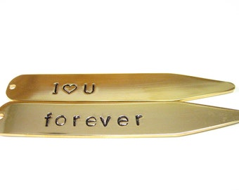 Customized Gold Plated Collar Stays