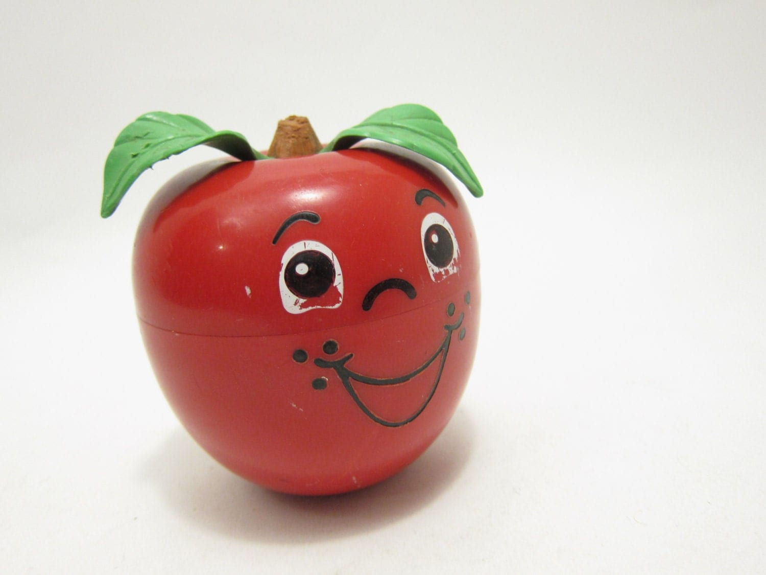 Old Toys From The 70s : Fisher price happy apple vintage baby s toy bells