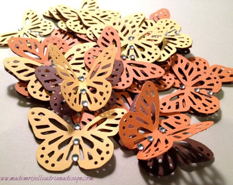 Party or scrap-booking Confetti - butterfly and crystals