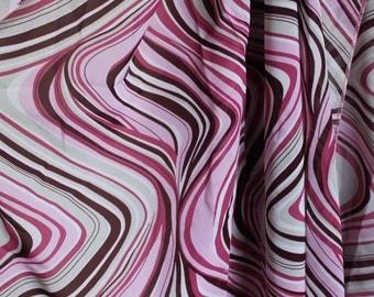 Vintage Pink Waves Scarf
