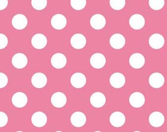 Pink Polka Dot Fabric - Quilting Fabric - Nursery Fabric - Riley Blake