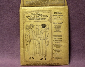 1921 McCall Dress Pattern, Slim Skirted Jumper