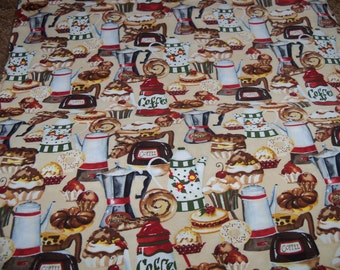 Cafe Americano Quilters Fabric,1 Yard