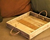 Mini - Reclaimed Pallet Wood Furniture - Serving Tray in Natural Wood