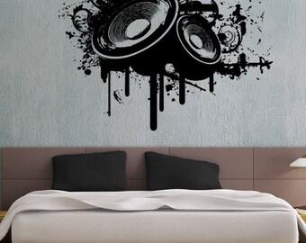 Modern Music 5 - uBer Decals Wall Decal Vinyl Decor Art Sticker Removable Mural Modern A318