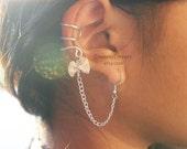 Silver (or Gold) Bow Ear Cuff Earring