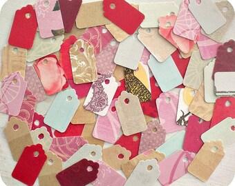 XOXO Jewelry Tags (70) - Hang Tags-Mini Tags-Small Tags-Price Tags-Blank Tags-Gift Tags-Bulk Tags-Boutique Tags-Mini Price Tags-Tiny Tags