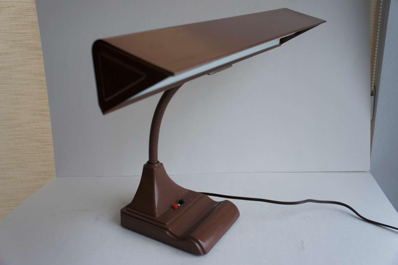 industrial vintage metal gooseneck desk lamp. Black Bedroom Furniture Sets. Home Design Ideas