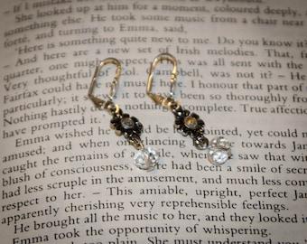 Vintage Style Jane Austen Earrings: Crystal