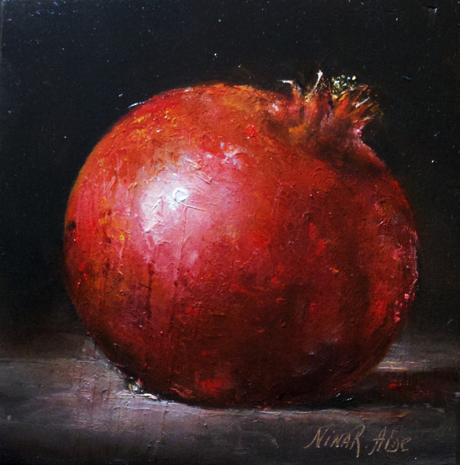 Pomagranate Oil Painting