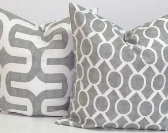 GRAY PILLOW SET.16x16 inch.Decorative Pillow Covers.Gray Pillow Covers.Grey Pillows.Gray Decor.Accessories.Housewares.Home Decor.Cushions.cm