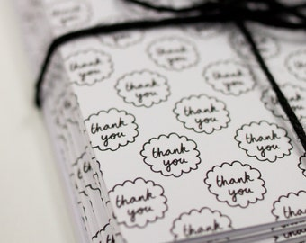 Hand Drawn Patterned Thank You Card Set of 6