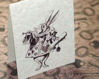 Alice in Wonderland, Looking Very Vintage ... Set of 12 Cards . Stationery . Parchment . Sepia . Whimsical . All Occasion . Blank Notecards