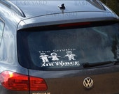 Stick Figure Military Family Vehicle Decal