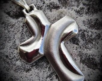 Genuine Sterling Silver Cross Pendant
