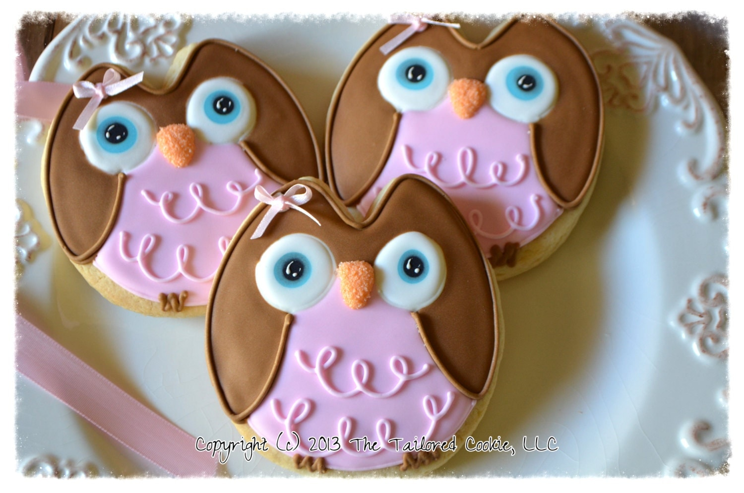 Owl Decorated Cookies Airplane Baby Shower Shortbread Sugar Cookie Favors