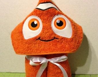 Clown Fish Hooded Towel