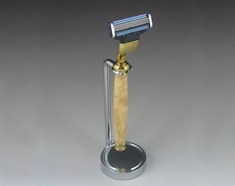 Shaving Razor, Mach3, Exotic wood or acrylic handle