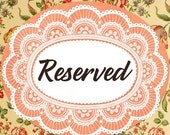 Reserved for Lisa