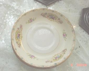 Vintage Saucers Porcelain China Set of 3 Cottage Decor